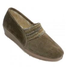 Winter shoe woman elastic instep wool lining Soca in beig