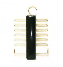 Corbatero with 12 hangers for ties and 2 for belts Cairon in black