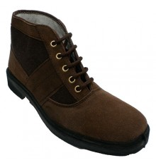 Boot work and canvas type classic Chiruca Vallera in brown