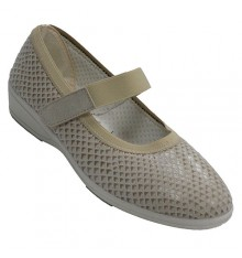 Shoe merceditas lycra woman very wide velcro Doctor Cutillas in beig