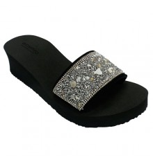 Flip-flops beach pool woman jewelery Gioseppo in black