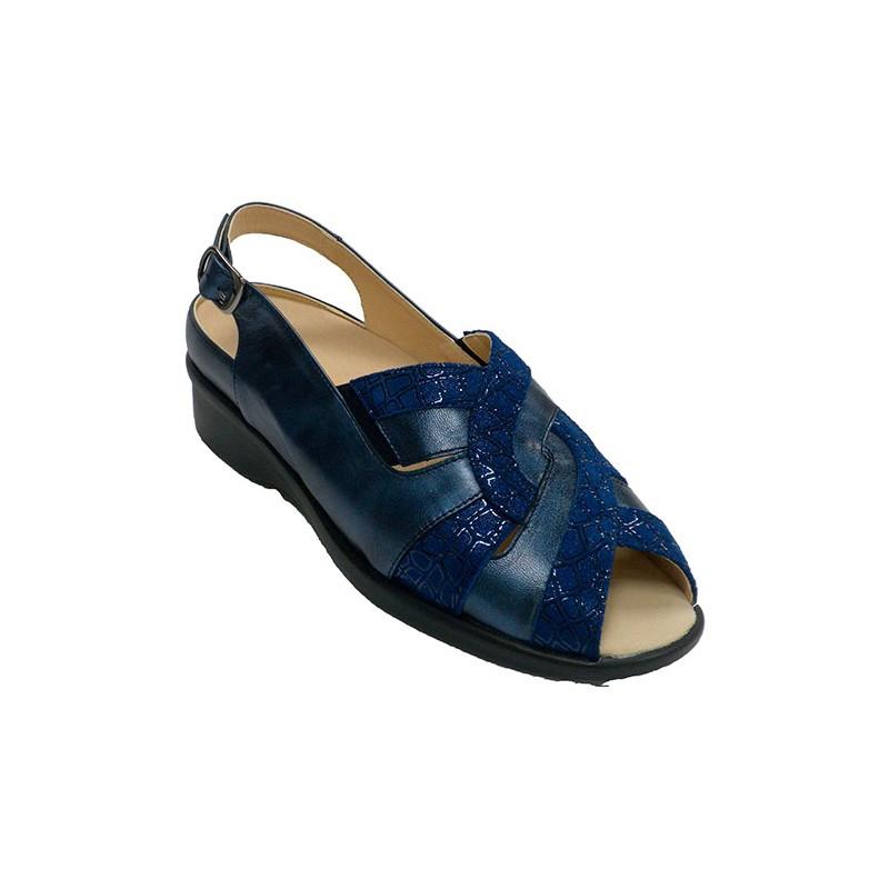 a7ed4e01 Sandalias mujer muy cómodas para plantillas ortopédicas Doctor Cutillas en  azul marino