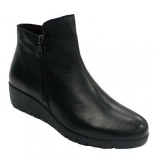 Boot woman half cane with zip Pepe Menargues in black