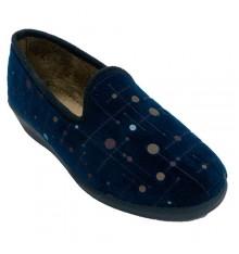 Zapatilla mujer cerrada con circulos coleres Aguas nuevas en azul marino