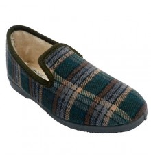 Checked shoe to be home man closed wool lining Soca in green