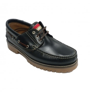 Nautical sole fat skin Edward´s in navy blue