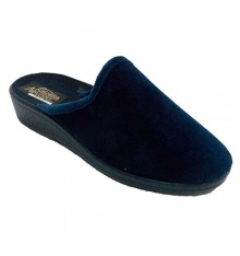 Woman slipper open from behind Nevada in navy blue