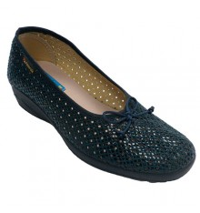 Openwork woman shoe type flats Alberola in navy blue
