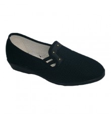 Fabric shoe rack with half key Soca in navy blue