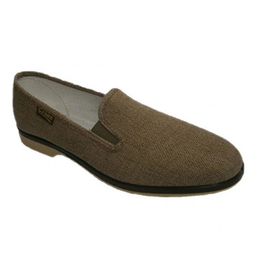 Canvas shoes with rubber on the sides Cruan in beig