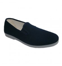 Canvas shoes with rubber sides for simple Chapines in navy blue
