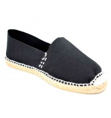 Alpargatas flat esparto Made in Spain in black
