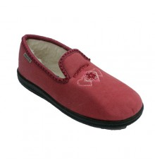 Flat closed shoes with fur on the inside sole very comfortable Muro in pink
