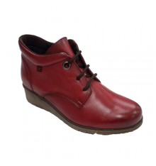 Women's laced boot with inner lining Pepe Menargues in red