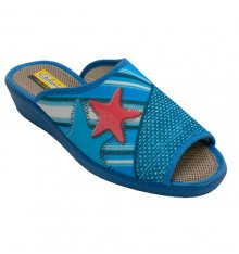 Flip flops open toe starfish starfish Aguas nuevas in blue