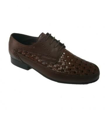 Zapato rejilla con cordon 30´s en marrón