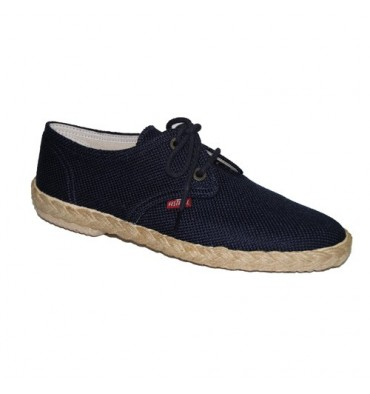 Canvas Shoe laces Festival in navy blue