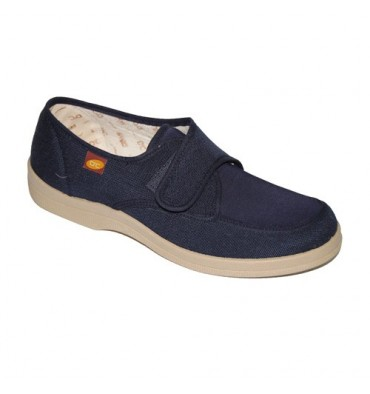 Canvas shoes velcro for very delicate feet Doctor Cutillas in navy blue