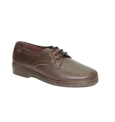 Zapatos cordones para pies muy delicados Doctor Cutillas en marrón