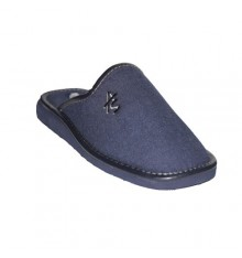 Knight closed toe slippers Andinas in navy blue