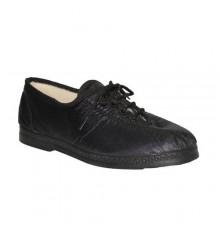 Zapato de tela imitando material De Carmelo en negro