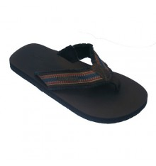 Thongs pool with leather soles Gioseppo in brown