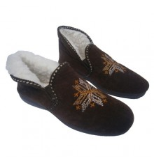 Convertible boot slippers Muro in brown