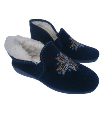 Convertible boot slippers Muro in blue