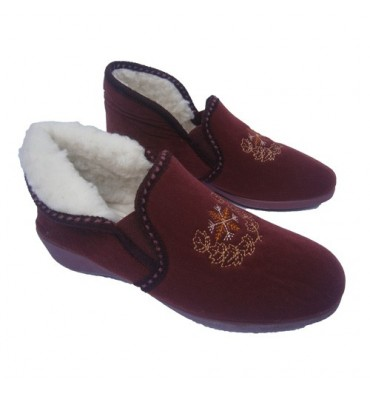 Convertible boot slippers Muro in bordeaux