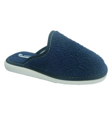 Closed toe slipper towel towel Andinas in navy blue