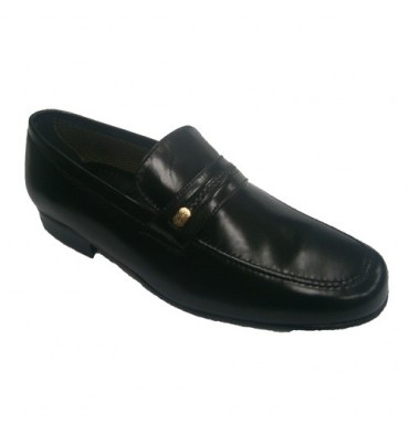 Classic shoe with braid and side detail 30´s in black