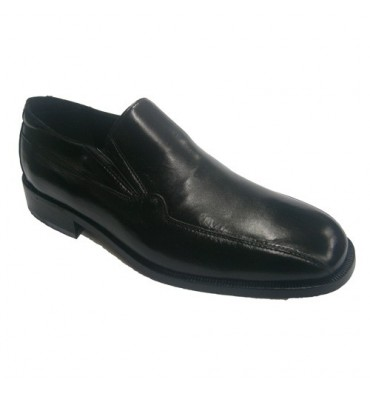 Dress Shoe leather sole flat shovel Marego in black
