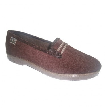 Velvet slipper with rubber sides and knot motif Doctor Cutillas in brown