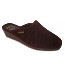 Classic thong slipper corduroy high wedge Salemera in bordeaux