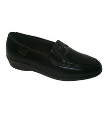 Sapato Lycra com lâmina de borracha nas laterais em preto Cutillas Doctor