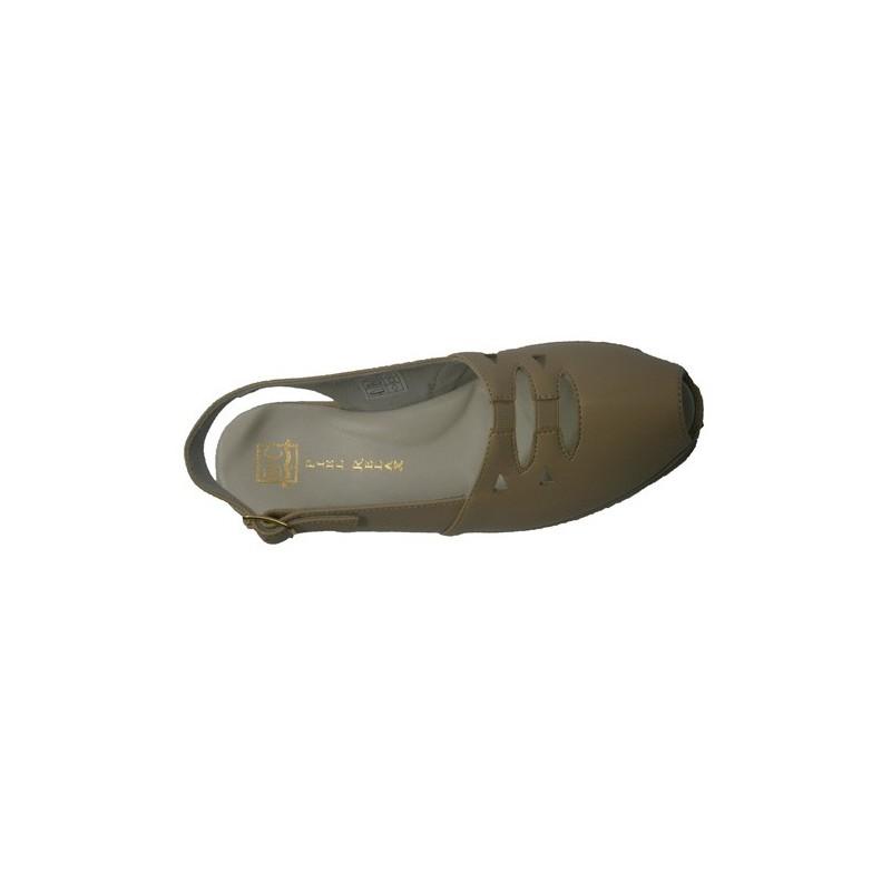 Sandalia con gomas en el empeine con forro de piel Doctor Cutillas en beig talla 36 v1sN7nTTvI