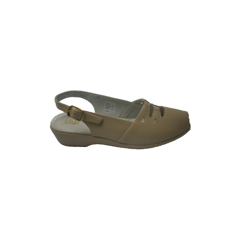 Zapato calado con gomas cruzadas Doctor Cutillas en beig talla 38 UnpF3LXpl7