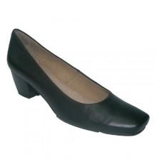Salão sapatos ideal para o calcanhar uniforme em preto Pepe Varo