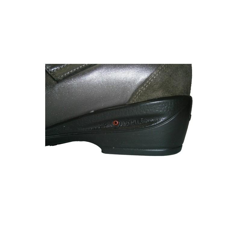Zapato merceditas con velcro y cámara de aire Tres Damas en metalizado talla 39 CVbpnqiC