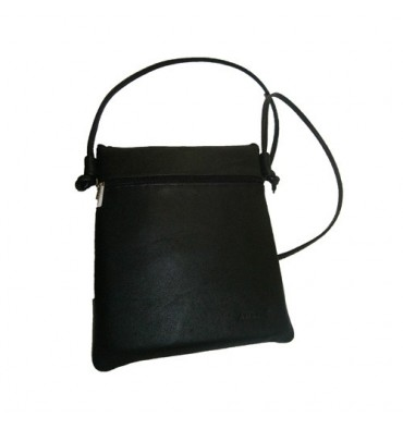 Rectangular bag with 2 zippers Attanze in black