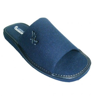 Open toe slippers Knight Andinas in navy blue