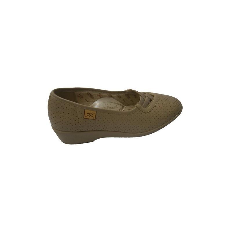 Zapato calado con gomas cruzadas Doctor Cutillas en beig talla 39 QIz1WX