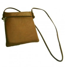 Rectangular bag with 2 zippers Attanze in brown