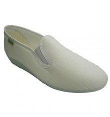 Classic low wedge shoe Muro in white