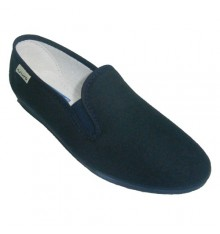 Classic low wedge shoe Muro in navy blue