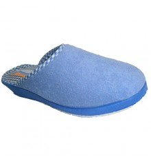 Thongs towel smooth closed at the tip Soca in blue