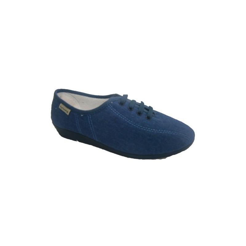 Zapatillas cordones cuña Muro en azul marino talla 38 xs2LCA4