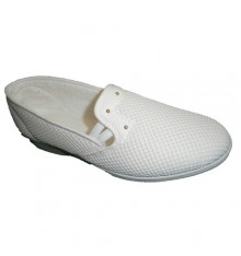 Fabric shoe rack with half key Soca in white