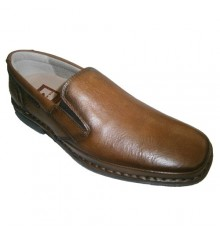Very comfortable sport shoe with rubber sides and removable insole Tolino in light brown