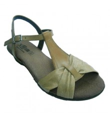 Leather sandals with cross tie with covered vamp Manuel Almazan in leather